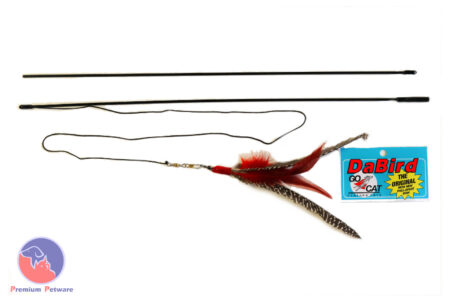 Da Bird  Pull Apart Rod and Feather Toy