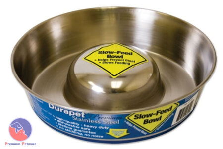 Durapet Stainless Steel Slow Feed Dog Bowls