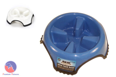 JW Pet Skid Stop Slow Feed Bowls