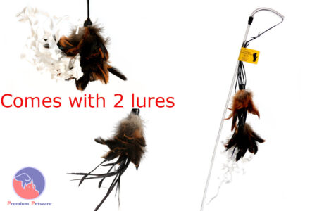 PURRfect Crunchy Feather Cat Toy with FREE Replacement Feather Lure