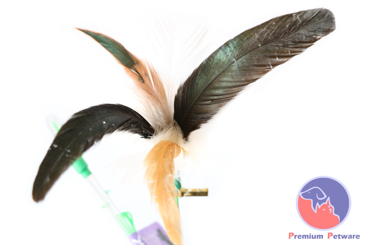 how to make a cat toy with feathers