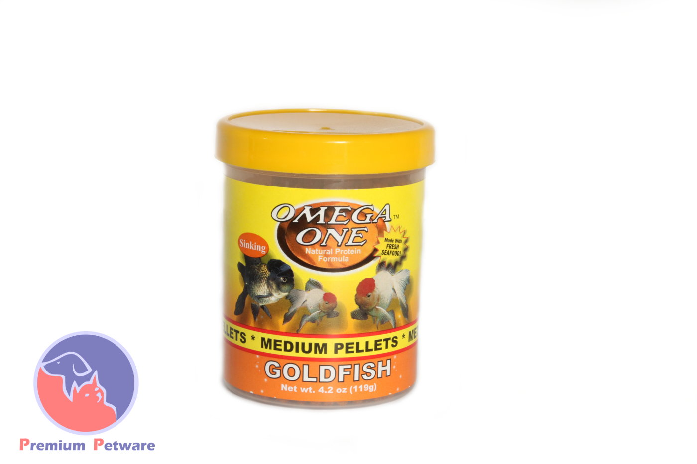 Omega one goldfish pellets premium petware for Omega one fish food