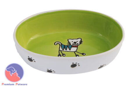 Silly Kitty Oval Bowl