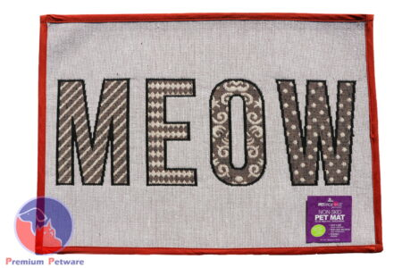 "TAPESTRY PLACEMAT  - ""MEOW"""
