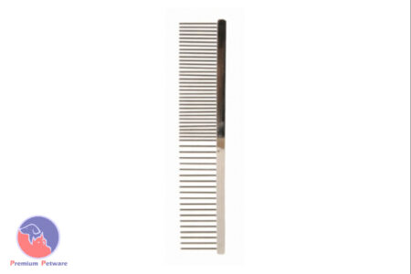 TRIXIE METAL COMBINATION COMB - MED/COARSE TEETH