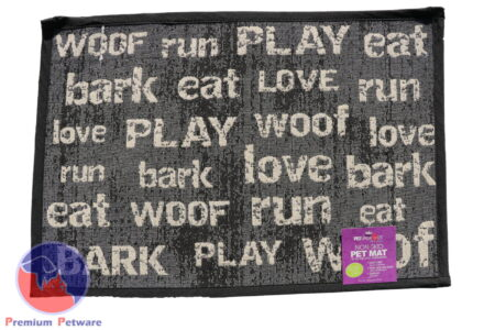"TAPESTRY PLACEMAT  - ""WOOF RUN PLAY..."""