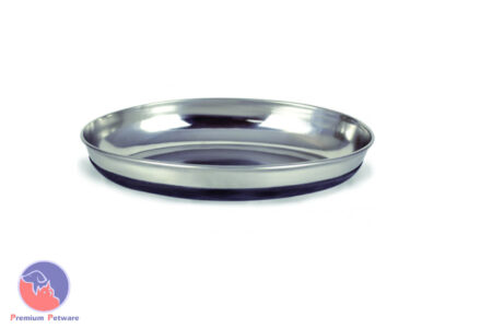 DURAPET NON-SKID STAINLESS STEEL OVAL CAT DISH - 300ml