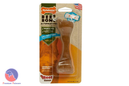 NYLABONE FLEXIBLE PUPPY MINI BEEF BONE