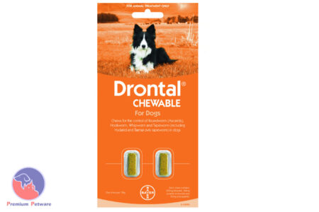DRONTAL CHEWABLE WORM TREATMENT FOR DOGS 10kg