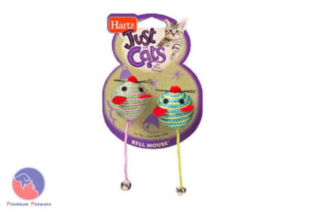 HARTZ BELL MOUSE TOY TWIN PACK