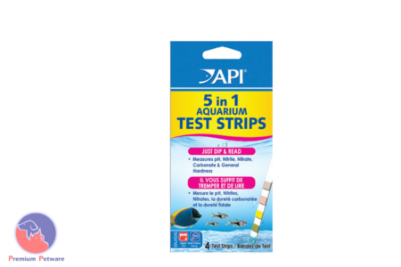 API 5 In 1 TEST STRIPS - pH, NO2,NO3,KH,GH