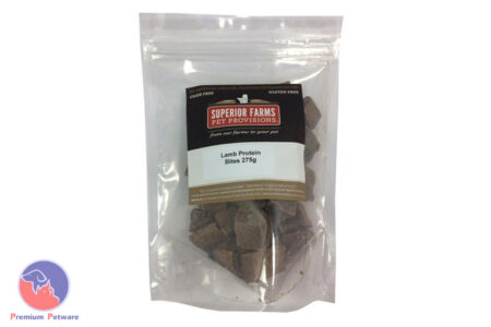 SUPERIOR FARMS DOG TREATS - DRIED LAMB PROTEIN BITES 275G