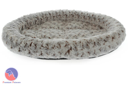 T&T SNUGGLEPUSS OVAL CAT BED - LATTE