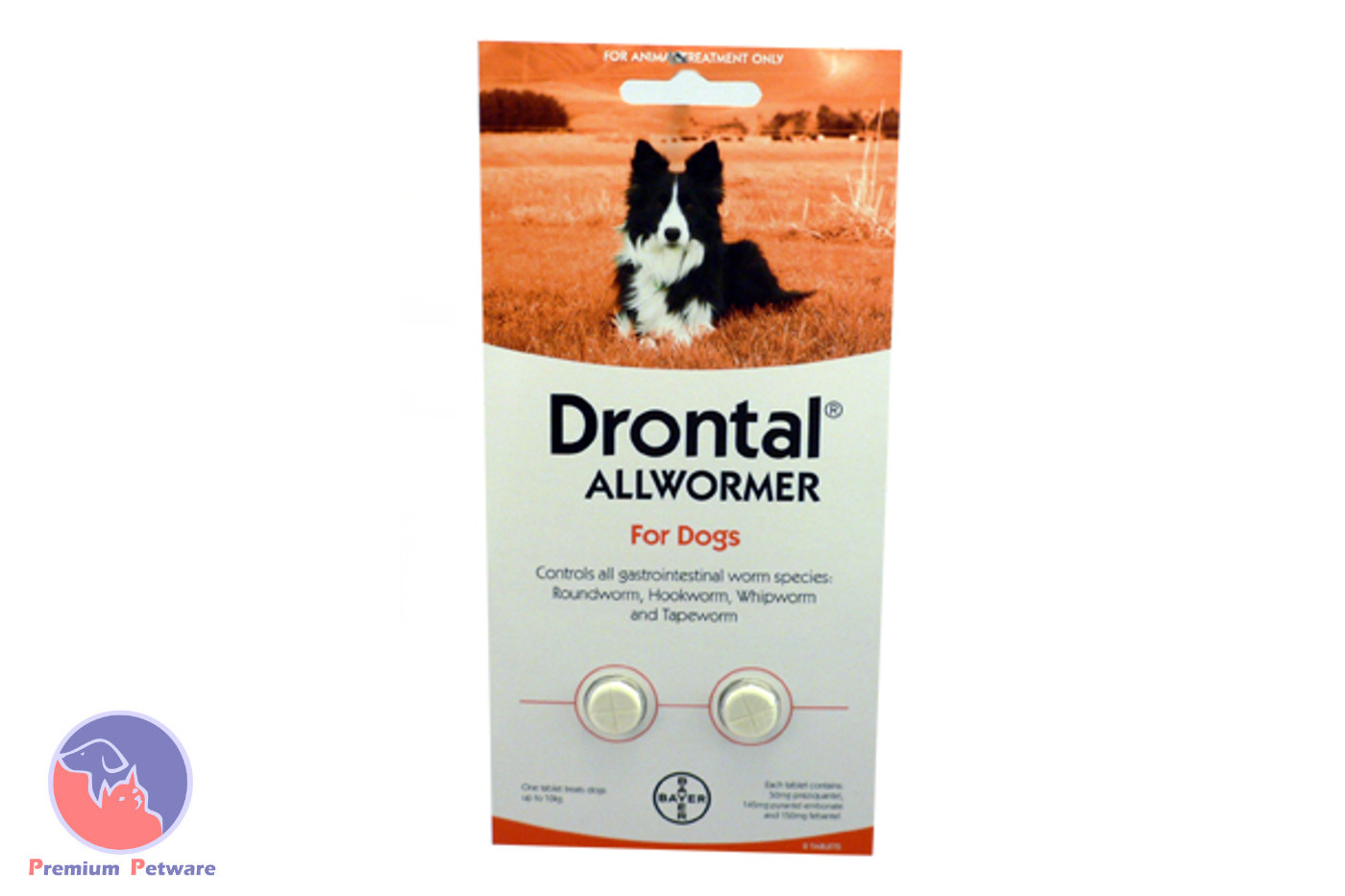 DRONTAL ALL WORMER FOR DOGS 10kg
