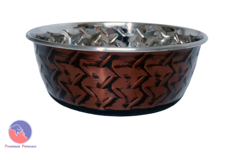 DURAPET EMBOSSED STAINLESS STEEL BOWLS - COPPER TREAD