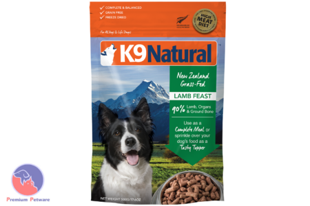 K9 NATURAL FREEZE DRIED LAMB FEAST 500G