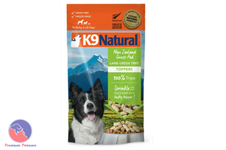 K9 NATURAL FREEZE DRIED LAMB GREEN TRIPE TOPPER 57G