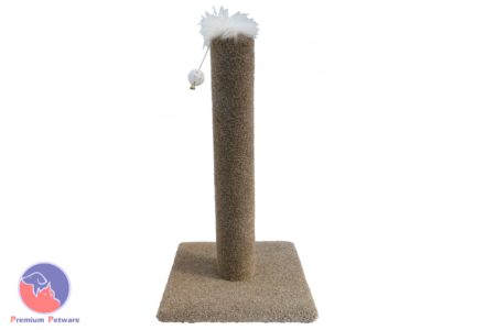 CARPETED CAT SCRATCHING POST - 700mm
