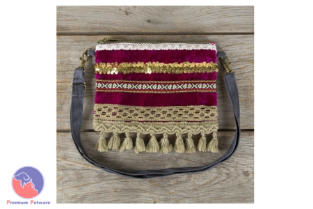 NATURAL LIFE HIP POUCH - MAGENTA WITH GOLD TRIM