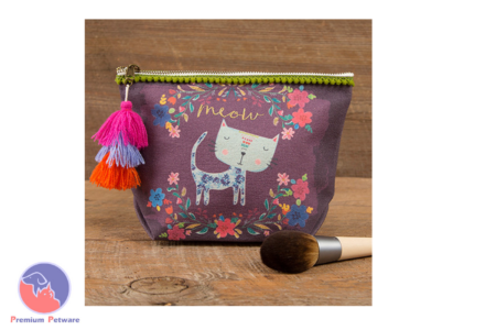 NATURAL LIFE MEOW CANVAS POUCH