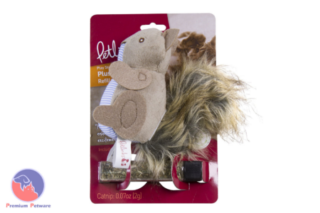 PET LINKS PLUSH PLAYER SQUIRREL CATNIP TOY