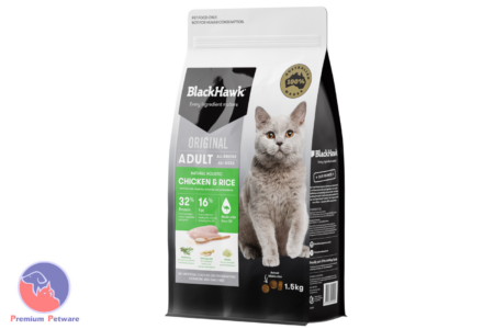 BLACK HAWK ADULT CAT CHICKEN & RICE FORMULA