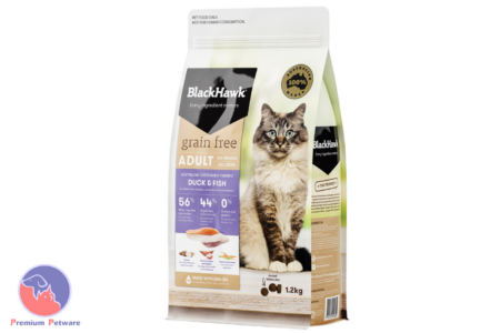 BLACK HAWK ADULT CAT GRAIN FREE DUCK & FISH FORMULA