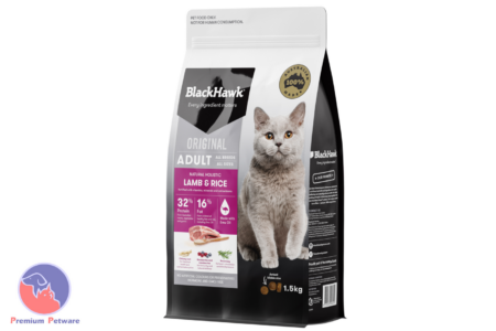 BLACK HAWK ADULT CAT LAMB & RICE FORMULA