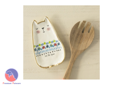 NATURAL LIFE CERAMIC SPOON REST CAT LICK
