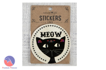 NATURAL LIFE MEOW STICKERS 3 PK