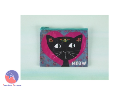 NATURAL LIFE RECYCLED ZIP COIN PURSE MEOW