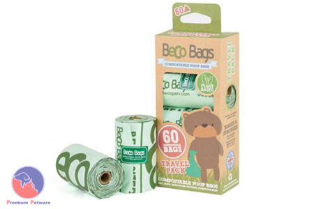 BECOBAGS - 60 COMPOSTABLE DOG WASTE BAGS
