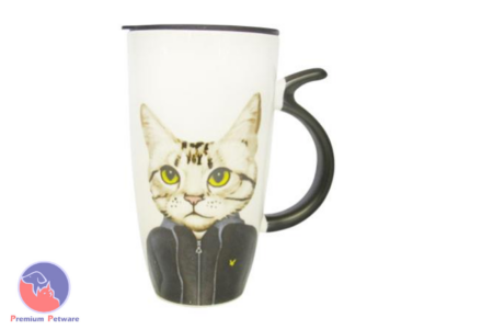 MUGS - ART CAT MUG BLACK