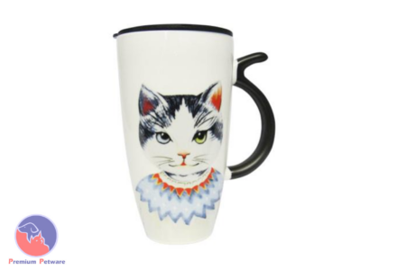 MUGS - ART CAT MUG BLUE