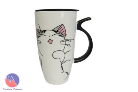 MUGS - PURRING CARTOON CAT