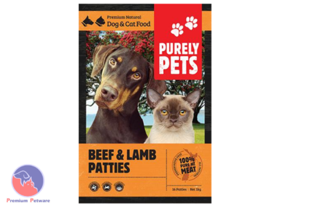 PURELY PETS FROZEN BEEF & LAMB PATTIES