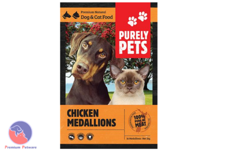 PURELY PETS FROZEN RAW CHICKEN MEDALLIONS