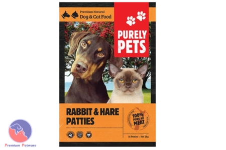 PURELY PETS FROZEN RABBIT & HARE PATTIES