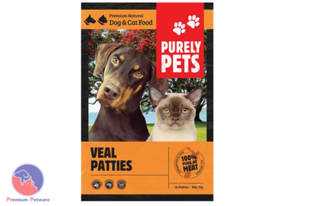 PURELY PETS FROZEN VEAL PATTIES