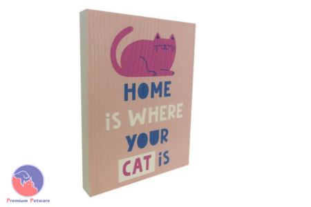 "WORD ART PICTURE - ""HOME IS WHERE YOUR CAT IS"""