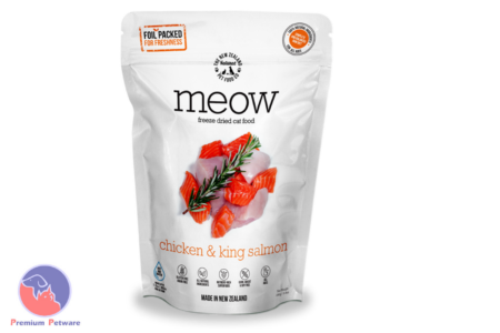 MEOW CHICKEN AND SALMON - PREMIUM DEHYDRATED CAT FOOD