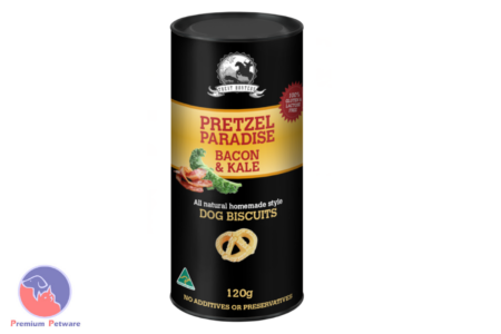 TREAT HUNTERS PRETZEL PARADISE - BACON & KALE 120G