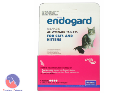 ENDOGARD CAT WORMING TABLETS - 4 PACK **EXPIRY JULY 2020**