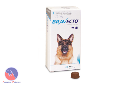 BRAVECTO CHEWABLE FLEA & TICK TREATMENT DOGS