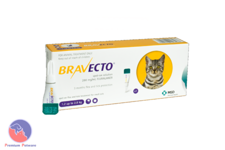 BRAVECTO SPOT ON FLEA & TICK TREATMENT FOR CATS