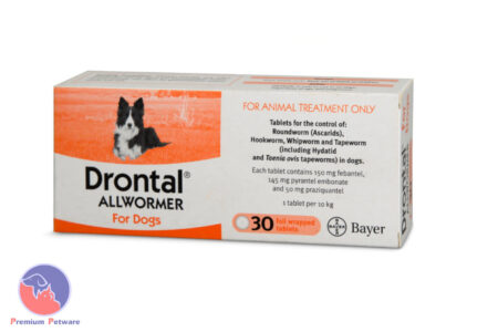 DRONTAL ALL WORMER FOR DOGS 10kg - BULK 30PK