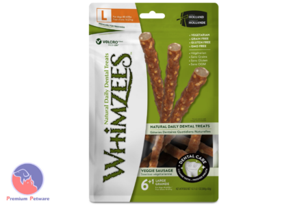 WHIMZEES VEGGIE SAUSAGE DENTAL DOG TREATS