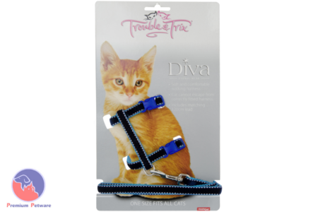 TROUBLE & TRIX SOFT CAT HARNESS SETS