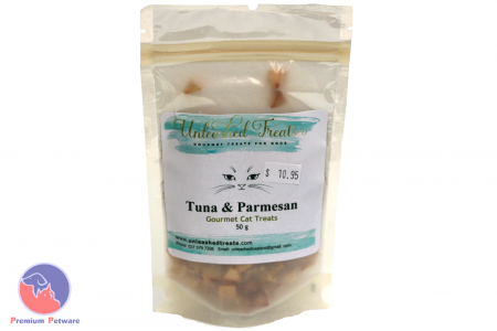 UNLEASHED TREATS TUNA AND PARMESAN CAT TREATS