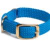 MENDOTA DOUBLE-BRAID ADULT BRASS COLLAR BLUE
